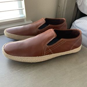 Cole Haan Men's Brown Leather Braided loafer 11